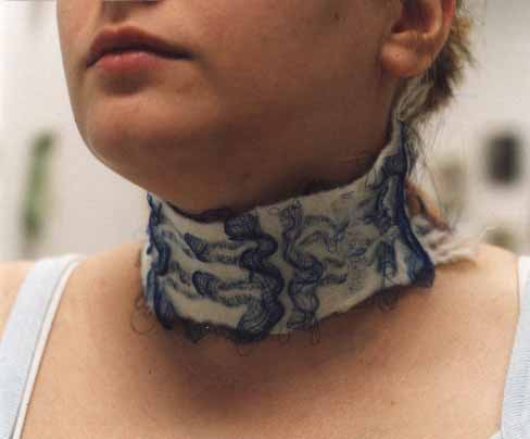 White Neckpiece : Hand weaver: fabrics and jewellery by Tracey Jones